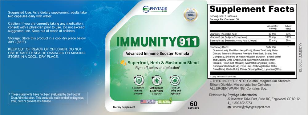 Immunity 911 Ingredients